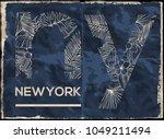 newyork city graphic design | Shutterstock .eps vector #1049211494