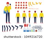 man in sportswear creation kit. ... | Shutterstock .eps vector #1049216720