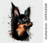 portrait of a dwarf dog ...   Shutterstock . vector #1049218268
