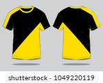 t shirt design vector  yellow... | Shutterstock .eps vector #1049220119