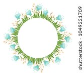 beautiful easter wreath....   Shutterstock .eps vector #1049221709