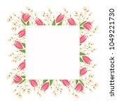 beautiful easter wreath....   Shutterstock .eps vector #1049221730