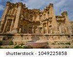 nymphaeum in jerash  jordan | Shutterstock . vector #1049225858