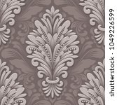vector volumetric damask... | Shutterstock .eps vector #1049226599