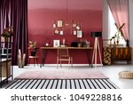 striped and pink carpet in...   Shutterstock . vector #1049228816