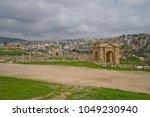 north gate in jerash  jordan | Shutterstock . vector #1049230940