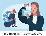 vector cartoon illustration of... | Shutterstock .eps vector #1049231240