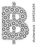 baht collage of cogwheels....   Shutterstock . vector #1049231654
