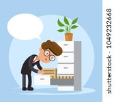 businessman searching document... | Shutterstock .eps vector #1049232668