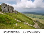 Small photo of Landscape view from Cadair Idris looking North towards Dolgellau over fields and countryside