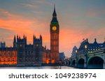 big ben and westminster bridge... | Shutterstock . vector #1049238974