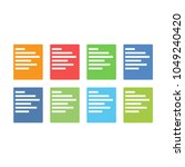 notebook with pen color icon...   Shutterstock . vector #1049240420