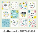 beautiful greeting card with... | Shutterstock .eps vector #1049240444