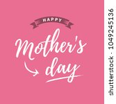 happy mothers day card  pink...   Shutterstock .eps vector #1049245136