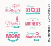 happy mothers day logo set.... | Shutterstock .eps vector #1049245139