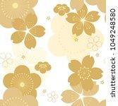 Gold Cherry Blossom Pattern...