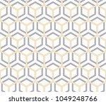 vector seamless geometric... | Shutterstock .eps vector #1049248766