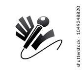 hi five hand with microphone... | Shutterstock .eps vector #1049248820