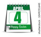 easter calendar. catholic... | Shutterstock .eps vector #1049251640