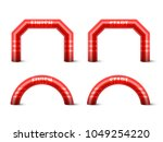 inflatable arch set isolated... | Shutterstock .eps vector #1049254220