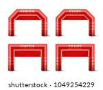 inflatable arch set isolated... | Shutterstock .eps vector #1049254229