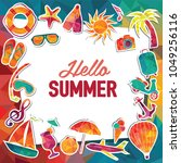 hello summer vector banner... | Shutterstock .eps vector #1049256116