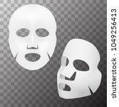realistic 3d white facial... | Shutterstock .eps vector #1049256413