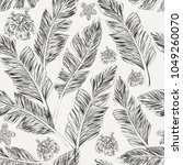 seamless pattern hand drawn... | Shutterstock .eps vector #1049260070