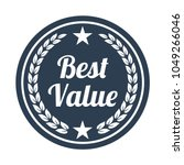 best value label on white... | Shutterstock .eps vector #1049266046