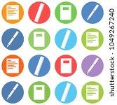 origami corner style icon set... | Shutterstock . vector #1049267240