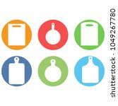set of isolated icons o na... | Shutterstock . vector #1049267780