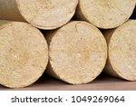 wood sawdust briquettes...   Shutterstock . vector #1049269064