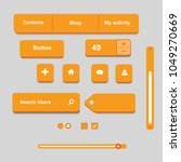 orange interface set