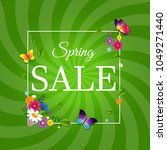 spring sale poster with... | Shutterstock . vector #1049271440