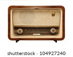 Old Radio From 1950 And The...