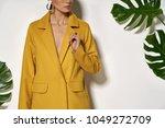 pretty girl is posing in a... | Shutterstock . vector #1049272709