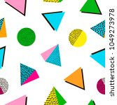 colorful geometric seamless... | Shutterstock .eps vector #1049273978