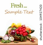 healthy food. fresh vegetables...   Shutterstock . vector #104927420