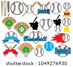 balls  bats and many more... | Shutterstock .eps vector #1049276930