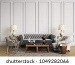 classic interior in pastel... | Shutterstock . vector #1049282066