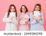 photo of smiling girls friends... | Shutterstock . vector #1049284298