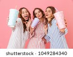 three content women with good... | Shutterstock . vector #1049284340
