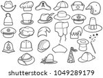Different Types Hats Thin Line Icons Stock Vector (Royalty Free) 1049289179  - Shutterstock 85df3451bb06