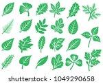 leaf icons set | Shutterstock .eps vector #1049290658