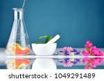 natural herbal organic drug... | Shutterstock . vector #1049291489