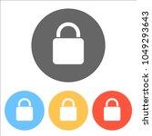 lock icon. set of white icons...