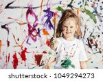 cute child with smuges of... | Shutterstock . vector #1049294273