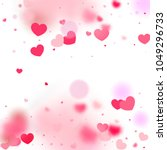 hearts falling background. st.... | Shutterstock .eps vector #1049296733