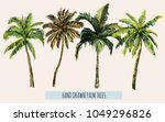 beautiful hand drawn botanical... | Shutterstock .eps vector #1049296826