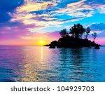 sunset coast horizon | Shutterstock . vector #104929703